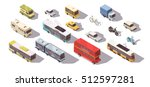 transport isometric set with... | Shutterstock .eps vector #512597281