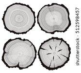 vector tree rings set  concept... | Shutterstock .eps vector #512598457