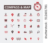 compass map icons | Shutterstock .eps vector #512601781