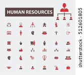 human resources icons | Shutterstock .eps vector #512601805