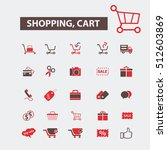 shopping cart icons | Shutterstock .eps vector #512603869