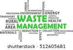 a word cloud of waste... | Shutterstock .eps vector #512605681