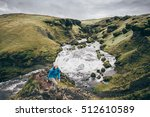 girls hiking the laugavegur... | Shutterstock . vector #512610589