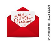 holiday letter with christmas... | Shutterstock .eps vector #512612305