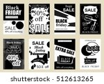 collection of sale banners... | Shutterstock .eps vector #512613265