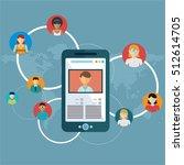 social network  people... | Shutterstock .eps vector #512614705