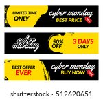 cyber monday sale banners... | Shutterstock .eps vector #512620651