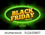 black friday sale frame design... | Shutterstock .eps vector #512620807