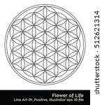 flower of life   intersecting... | Shutterstock .eps vector #512621314