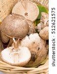 Raw Parasol Mushrooms In A...