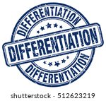 differentiation stamp.  blue... | Shutterstock .eps vector #512623219