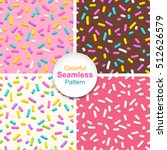 set of seamless patterns of... | Shutterstock .eps vector #512626579