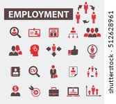 employment icons | Shutterstock .eps vector #512628961
