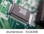 motherboard's green electronic... | Shutterstock . vector #5126308