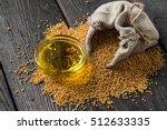 Grain Mustard In A Linen Bag...