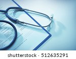 stethoscope and patient medical