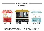 street food cart vector... | Shutterstock .eps vector #512636014