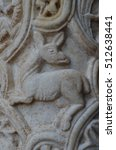 Marble Bas Relief Column In...