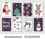 christmas and new year gift... | Shutterstock .eps vector #512642401