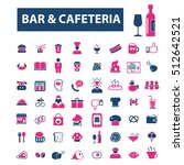 bar  cafe  pub icons | Shutterstock .eps vector #512642521