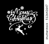 deer christmas vector... | Shutterstock .eps vector #512642647
