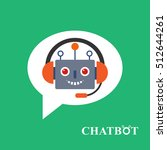 chatbot icon concept  chat bot... | Shutterstock .eps vector #512644261
