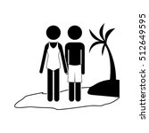 silhouette of couple icon | Shutterstock .eps vector #512649595
