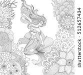 zendoodle design ofmermaid... | Shutterstock .eps vector #512657434