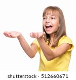 happy cute child reaching out...   Shutterstock . vector #512660671