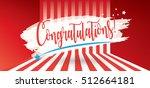 congratulations card.... | Shutterstock .eps vector #512664181