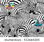 abstract illustration herd of... | Shutterstock .eps vector #512664205