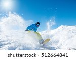 active snowboarder riding down... | Shutterstock . vector #512664841