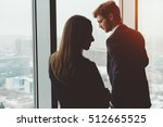 group of business people  a man ... | Shutterstock . vector #512665525