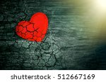 decorative heart on dark wooden ... | Shutterstock . vector #512667169