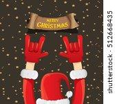 santa claus hand rock n roll... | Shutterstock .eps vector #512668435