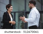 businesspeople interacting with ... | Shutterstock . vector #512670061