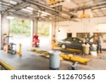 blurred image of car in auto... | Shutterstock . vector #512670565