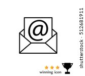 envelope mail icon. email... | Shutterstock .eps vector #512681911