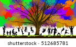 childhood colorful tree. vector | Shutterstock .eps vector #512685781