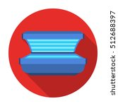 tanning bed icon in flat style... | Shutterstock .eps vector #512688397