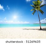 sea and coconut palm | Shutterstock . vector #51269635