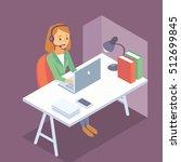 call center worker | Shutterstock .eps vector #512699845