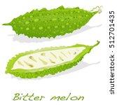 bitter melon vector isolated on ... | Shutterstock .eps vector #512701435