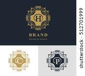 monogram design elements ... | Shutterstock .eps vector #512701999