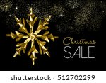 christmas sale gold winter... | Shutterstock .eps vector #512702299