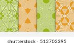 set of seamless vector patterns.... | Shutterstock .eps vector #512702395
