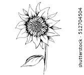Hand Drawn Decorative Sunflowe...