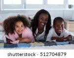 mother with their children... | Shutterstock . vector #512704879