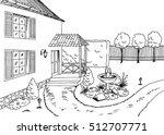 garden graphic black white... | Shutterstock .eps vector #512707771
