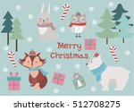 merry christmas greeting card... | Shutterstock .eps vector #512708275